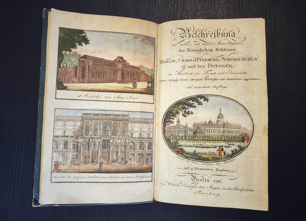 Antiquariat Struck Reiseführer 1796 kolorierte Stiche
