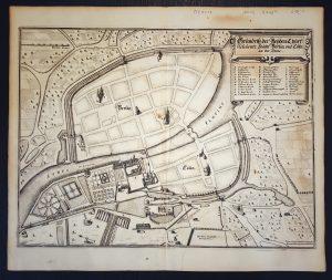 Erster gedruckter Stadtplan Berlins von 1652