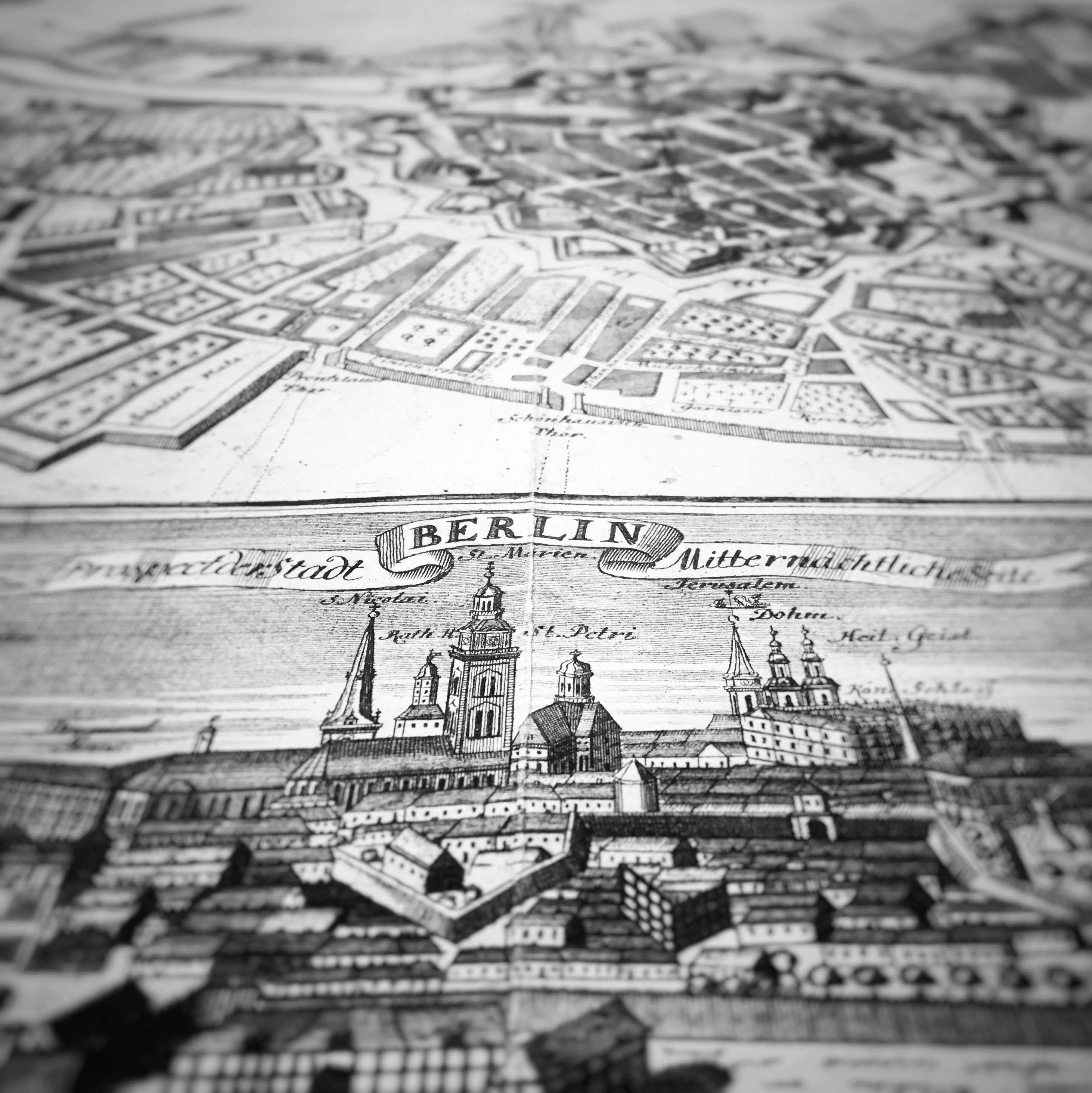 Berliner Stadtplan 1737 Antiquariat Struck