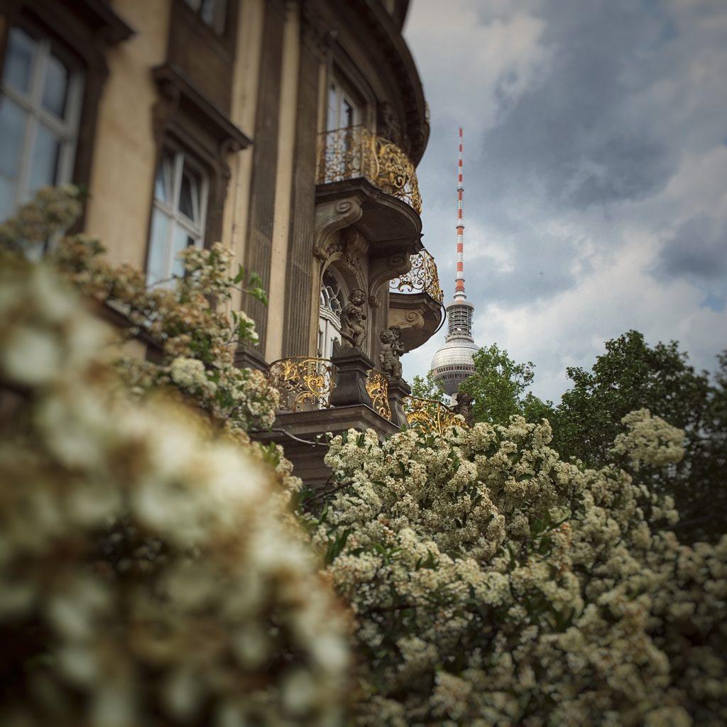 Ephraim-Palais mit Berliner Fernsehturm mit Unschärfe